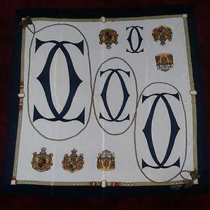Vintage Cartier Paris Silk Scarf